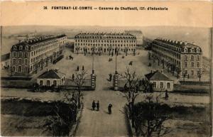 CPA MILITAIRE Fontenay le Comte-Caserne du Chaffault (316588)
