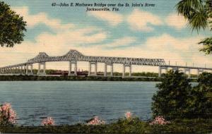 Florida Jacksonville John E Mathews Bridge Over St John's River Curteich