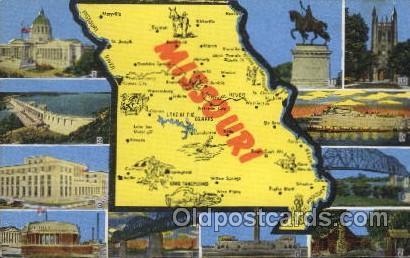 Missouri USA Map Maps Postcard Postcards Missouri USA HipPostcard - Missouri usa map