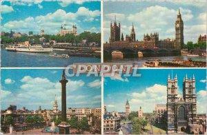 Postcard Modern London Tower of London Trafalgar Square House of Parliament W...