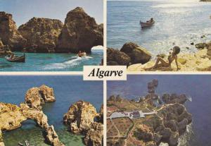 4 Views, Aerial View, Coast, Ponta da Piedade, Lagos, Algarve, Portugal 50-70s
