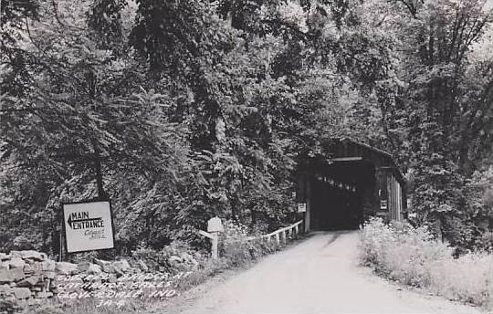 Indiana Cloverdale Covered Bridge Real Photo RPPC