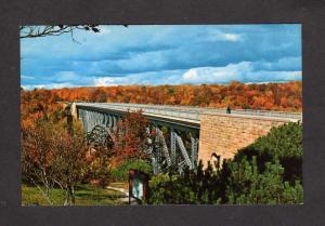 MI Cut River Bridge Epoufette Brevort Upper Peninsula Michigan Postcard PC