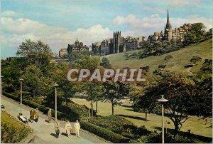 Modern Postcard Princes Street Gardens and the Old Town Skyline Edinburgh