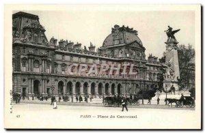 Paris -1 - The Louvre - Place du Carrousel - horse - Old Postcard