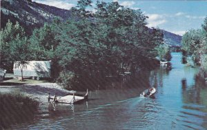 Channel joining Woods & Kalamalka Lakes , B.C. , Canada , PU-1972