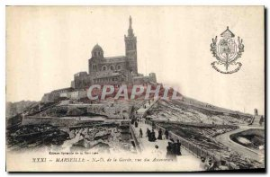 Old Postcard Marseille N A Guard view of Elevators