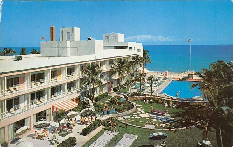 Miami Beach Florida Cau Resort Motel Shuffle Board Ping Pong Pool
