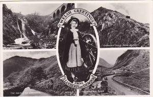 RP,Five Views,Waterfall,The Maiden Of Snowdon,Snowdon Train Near Summit,Llanb...