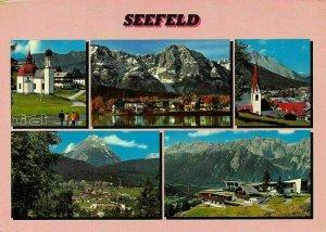 Gruss aus Seefeld Tirol Church Lake Cable Car Panorama Postcard