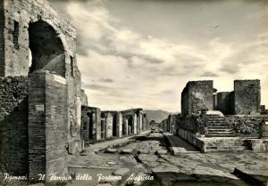Italy - Pompei. The Temple's the August Fortune  *RPPC