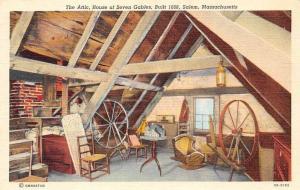 USA The Attic, House of Seven Gables, Built 1668, Salem, Massachusetts