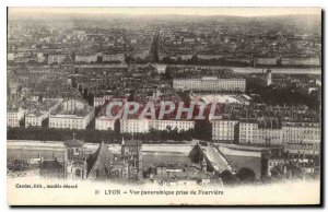 Old Postcard Lyon Panoramic View from Fourviere