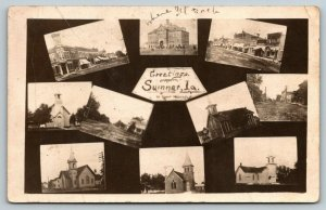 Sumner Iowa~10 Mini Vws~Main Streets~Churches~Effie Will Teach: School~1911 RPPC
