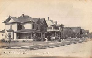 Lawton Oklahoma Residential Street Scene Real Photo Antique Postcard K24588