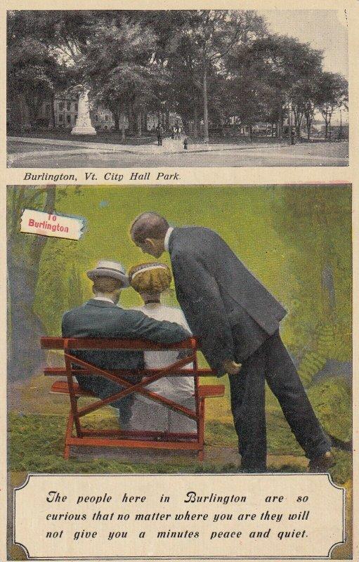 BURLINGTON, Vermont, PU-1911; City Hall Park