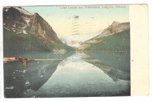 Lake Louise and Reflections, Laggan, Alberta, Canada,  PU-1911