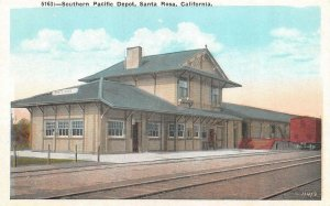 SANTA ROSA, CA California SOUTHERN PACIFIC RAILROAD~TRAIN DEPOT c1920's Postcard