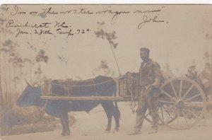 RP: Black Man & Ox Cart , PINEHURST , North Carolina , PU-1905