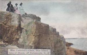 Miss underhill's chair, Star Island, Isles of Shoals, off Portsmouth, New Ham...
