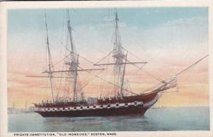 Massachusetts Boston Frigate Constitution Old Ironsides Curteich
