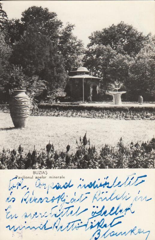 Romania Buzias mineral waters pavilion