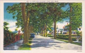 Massachusetts Cape Cod Typical Village Scene