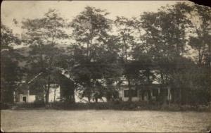 Lake Homes - Rockland ME Cancel c1910 Real Photo Postcard