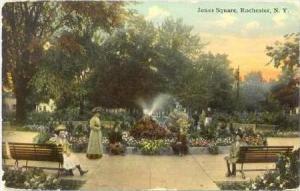 Jones Square, Rochester, New York, 1912 PU