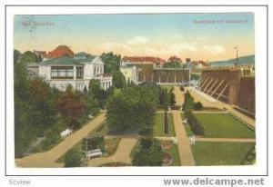 Bad Salzuflen, Badehauser mit Gradierwerk, PU 1930