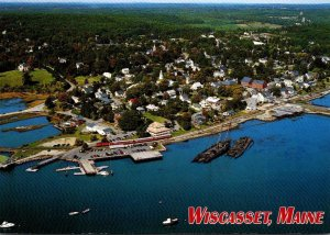 Maine Woscasset Aerial View