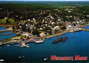 Maine Woscasset Aerial View