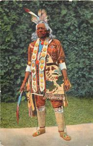Linen of an Indian Chief in Full Regalia 1946
