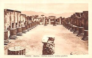 Italy Old Vintage Antique Post Card Pompei Basilica Unused