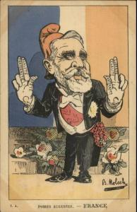 French Political Propaganda Comic - Poires Augustes - France B. Moloch Postcard