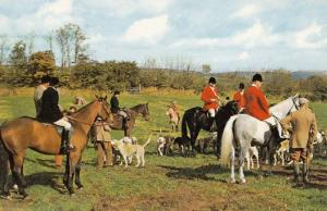 Land Owner Talking To Exmoor Hunt Fox Hunting 1970s Postcard
