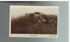Mint WW 1 England British Tank in Action Daily Mirror War Pictures Postcard