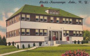 KAUNEONGA LAKE, New York, 1952; Block's Hotel