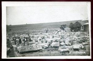dc1646 - ISRAEL Capernaum 1930s Ruins. Real Photo Postcard