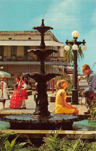 Ybor City Florida Latin Quarter Fountain  Vintage Postcard J73110
