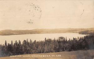Greensboro Vermont Caspian Lake Real Photo Antique Postcard K82552