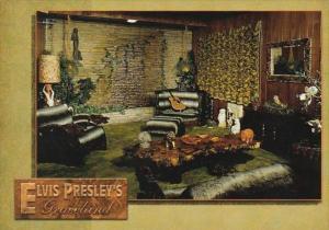 Elvis Presley Graceland Mansion Jungle Room Memphis Tennessee