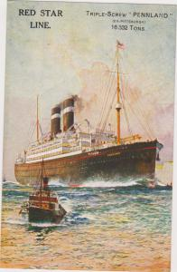 RED STAR Ship PENNLAND, 1900-10s