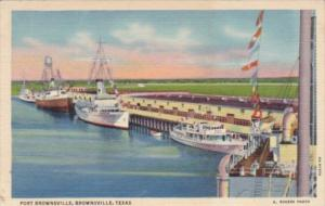 Texas Brownsville Ships At The Porty Curteich