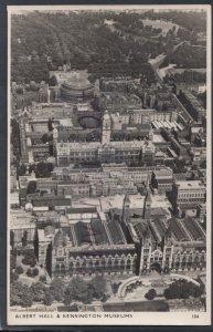London Postcard - Aerial View of The Albert Hall & Kensington Museums HM546