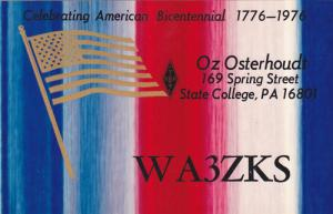 Celebrating America Bicentennial 1776-1976, Oz Osterhoudt, STATE COLLEGE, Pen...