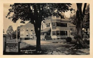 Kennebunkport ME The Kennebunkport Inn 75¢ Rooms to $1.75 Real Photo Postcard