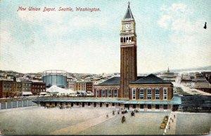 Washington Seattle New Union Depot 1909