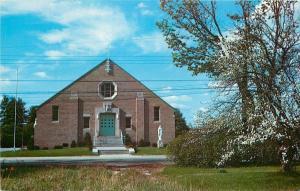 Keene NH~St Margaret Mary's Catholic Church~1950s Postcard