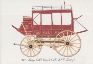 New South Wales Large Cobb Coach Australian Royal Mail Transport Rare Postcard